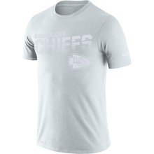 Kansas City Chiefs NFL Nike Pale Gray NFL 100 2019 Sideline Platinum Performance T-Shirt