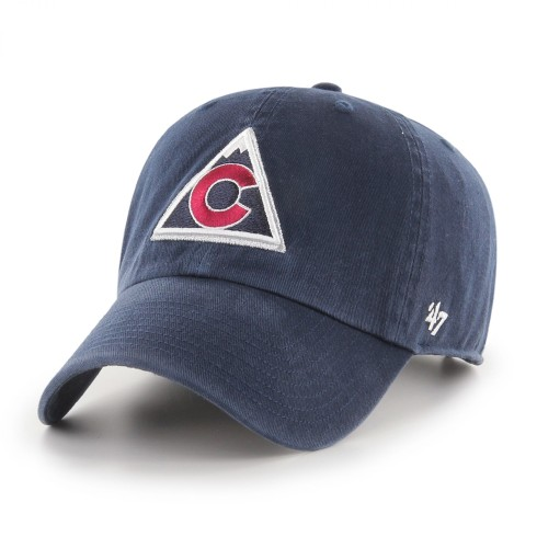 Colorado Avalanche Alternate NHL `47 Clean Up Cap - Navy | Adjustable