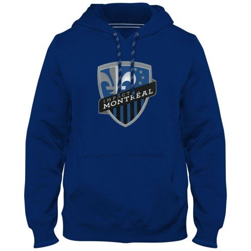 Montreal Impact MLS Express Twill Logo Hoodie - Royal