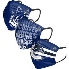 Vancouver Canucks NHL FOCO Matchday Pleated Face Cover Mask - 3-pack