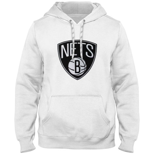 Brooklyn Nets NBA Express Twill Logo Hoodie - White