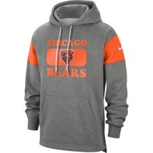 Chicago Bears NFL Nike Heathered Gray Historic Hoodie