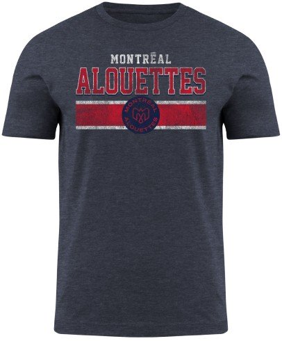 Montreal Alouettes CFL Moxie Heathered T-Shirt - Navy