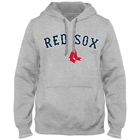 Boston Red Sox Express Twill Applique Home Field Hoodie - Gray
