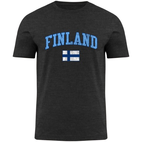 Finland MyCountry Vintage Jersey T-Shirt - Charcoal Heather