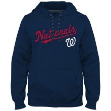 Washington Nationals MLB Express Twill Applique Home Field Hoodie - Navy