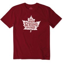 Life is Good Men's Canada True North Strong Crusher Tee