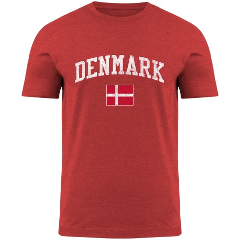 Denmark MyCountry Vintage Jersey T-Shirt - Red Heather
