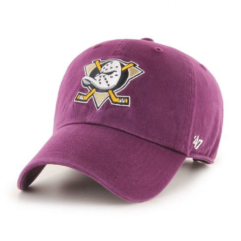 Anaheim Ducks Vintage NHL `47 Clean Up Cap - Plum | Adjustable