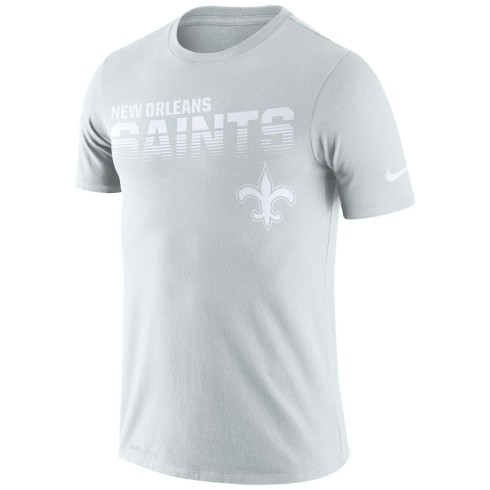 New Orleans Saints NFL Nike Pale Gray NFL 100 2019 Sideline Platinum Performance T-Shirt