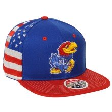 Kansas Jayhawks NCAA Zephyr Flag Snapback Cap | Adjustable