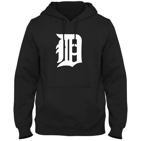 Detroit Tigers MLB Twill Logo Hoodie Shadow - Black