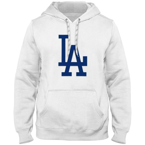 Los Angeles Dodgers MLB Express Twill Logo Hoodie Blue Logo - White
