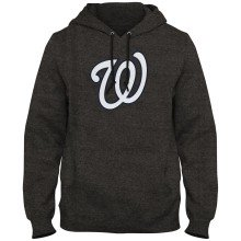 Washington Nationals MLB Express Twill Logo Hoodie - Twisted Charcoal