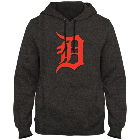 Detroit Tigers MLB Express Twill Logo Hoodie - Twisted Charcoal
