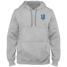 Greece MyCountry Express Twill Home Field Hoodie - Athletic Gray