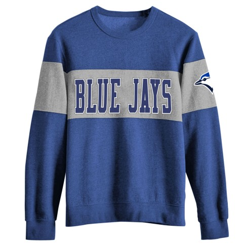 Toronto Blue Jays MLB Colorblock French Terry Crew Sweatshirt