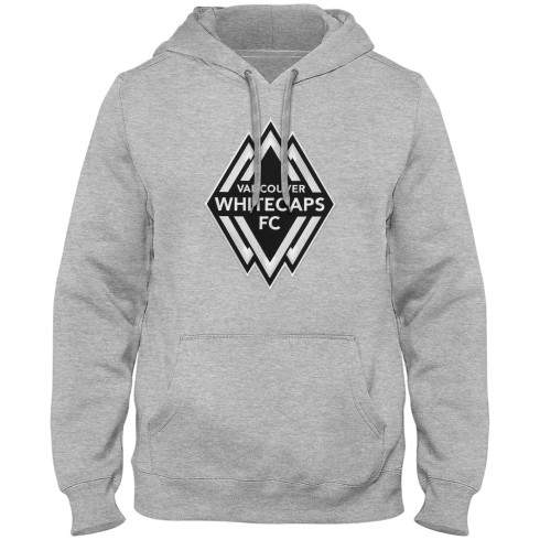Vancouver Whitecaps FC MLS Shadow Express Twill Logo Hoodie - Athletic Grey