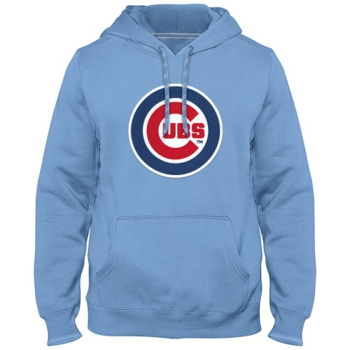 Chicago Cubs MLB Express Twill Logo Hoodie - Light Blue