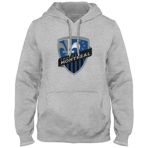 Montreal Impact MLS Express Twill Logo Hoodie - Athletic Grey