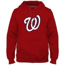 Washington Nationals MLB Express Twill Logo Hoodie - Red