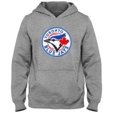 Toronto Blue Jays MLB YOUTH Express Twill Hoodie - Athletic Gray