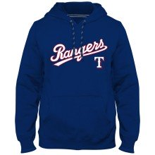 Texas Rangers MLB Express Twill Applique Home Field Hoodie - Royal Blue