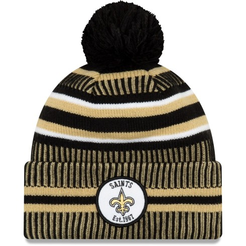 New Orleans Saints 2019 NFL Official Sideline Home Cold Weather Sport Knit Hat