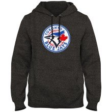 Toronto Blue Jays MLB Express Twill Logo Hoodie - Twisted Charcoal