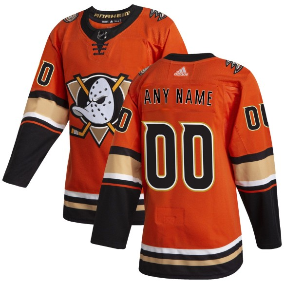 Anaheim Ducks ANY NAME adidas NHL Authentic Pro Alternate Orange Jersey - Pro Stitched