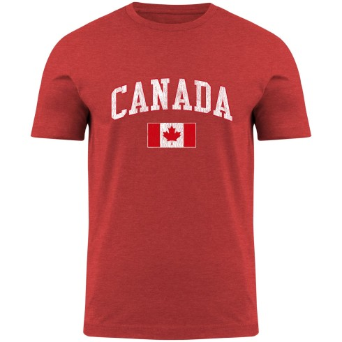Canada MyCountry Vintage Jersey T-Shirt - Red Heather