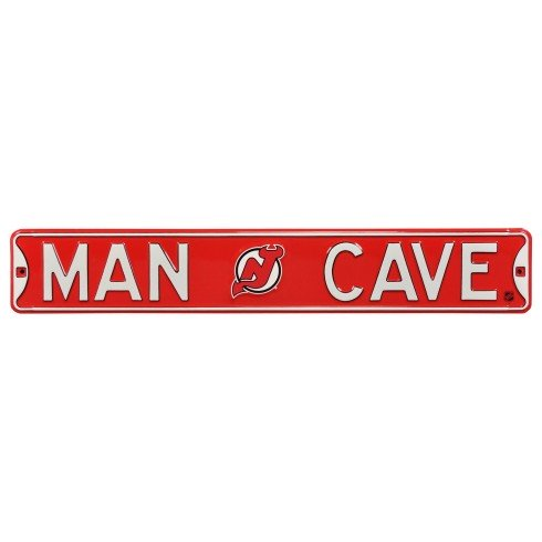 New Jersey Devils NHL MAN CAVE Authentic Steel Street Sign