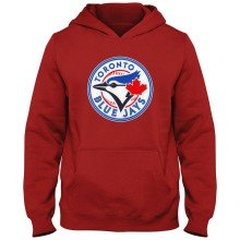 Toronto Blue Jays MLB YOUTH Express Twill Hoodie - Red
