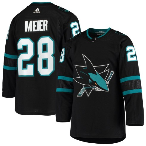 Timo Meier San Jose Sharks adidas NHL Authentic Pro Alternate Jersey - Pro Stitched