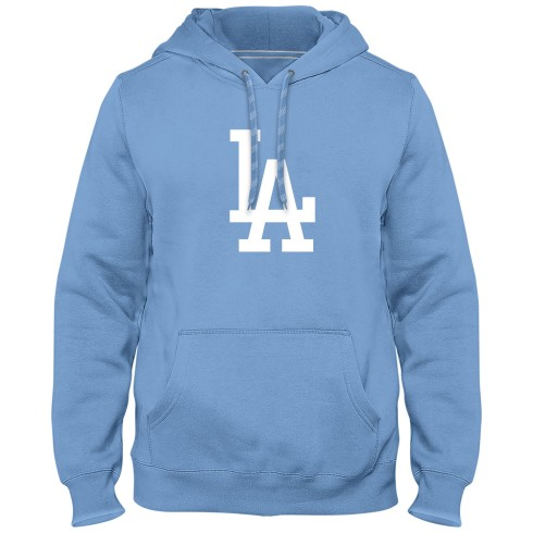 Los Angeles Dodgers MLB Express Twill Logo Hoodie - Light Blue