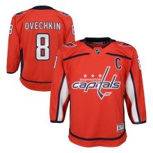 Alexander Ovechkin Washington Capitals NHL Premier Youth Replica Home Hockey Jersey