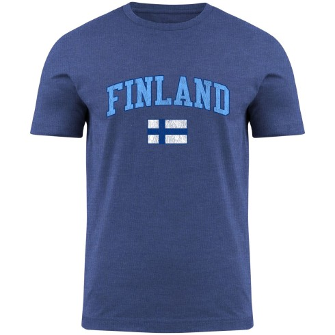 Finland MyCountry Vintage Jersey T-Shirt - Royal Heather