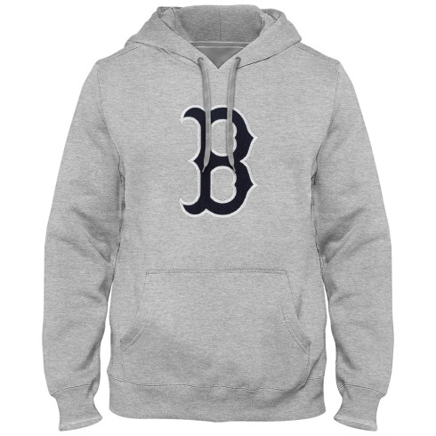 Boston Red Sox Express Twill Logo Hoodie - Athletic Gray