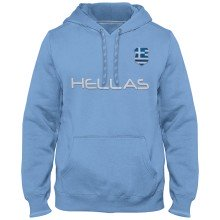 Greece MyCountry Express Twill Home Field Hoodie - Light Blue