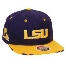 LSU Tigers NCAA Zephyr Drop Step Snapback Cap | Adjustable