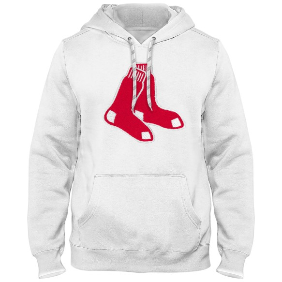 Boston Red Sox Express Twill Logo Hoodie - White (Alternate Logo)