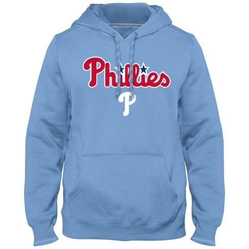 Philadelphia Phillies MLB Express Twill Applique Home Field Hoodie - Light Blue