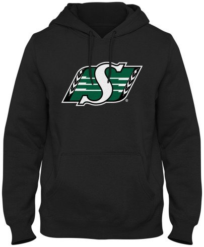 Saskatchewan Roughriders CFL Basic Logo Hoodie - Black