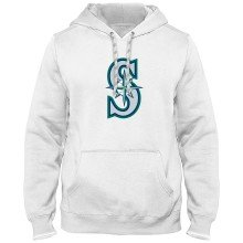 Seattle Mariners MLB Express Twill Logo Hoodie - White