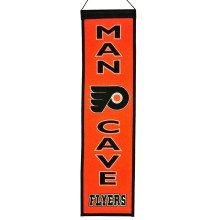 Philadelphia Flyers NHL MAN CAVE Wool Banner