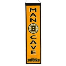 Boston Bruins NHL MAN CAVE Wool Banner