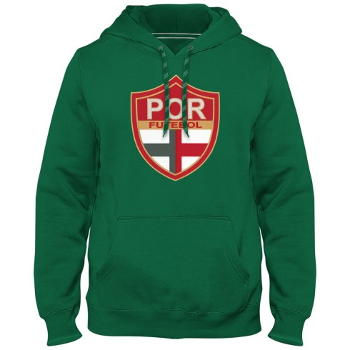 Portugal Futebol MyCountry Express Twill Logo Hoodie - Green