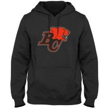 BC Lions CFL Twill Logo Hoodie - Charcoal