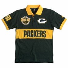 Green Bay Packers NFL Wordmark Short Sleeve Rugby Polo