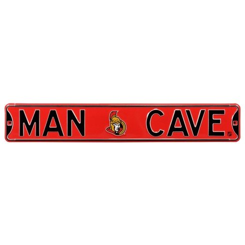 Ottawa Senators NHL MAN CAVE Authentic Steel Street Sign